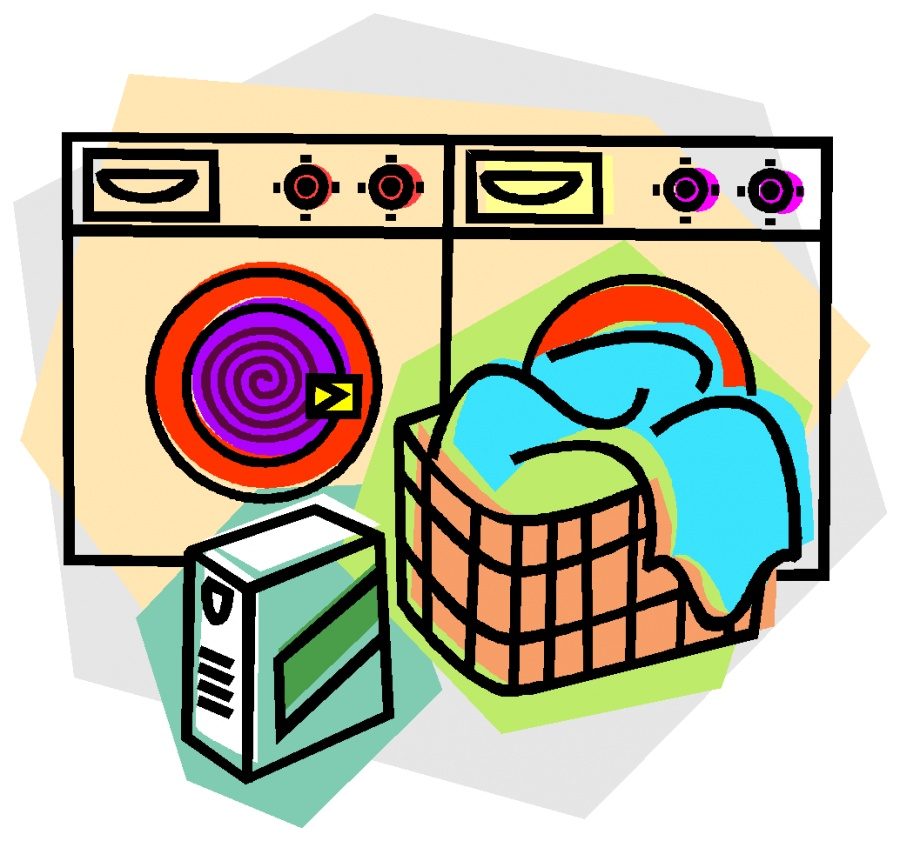 Cartoon-clean-laundry-clipart
