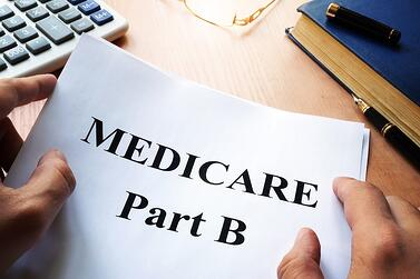 Medicare Part B on a sheet of paper.