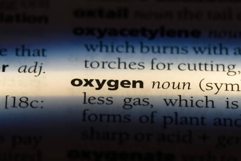 Oxygen in a dictionary