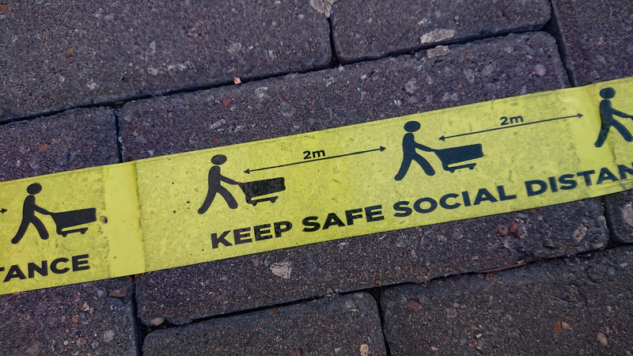 Social distance tape