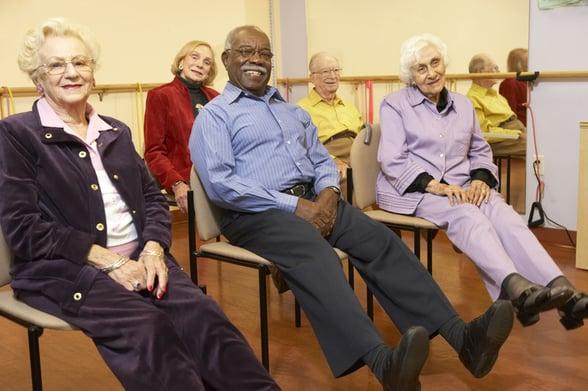 elderly workout class