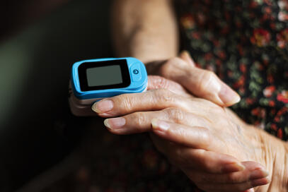Pulse oximetry is one method for determining blood oxygen levels.