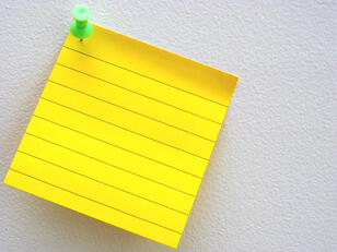 Reminder sticky note
