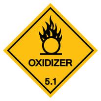 Warning: Oxidizer sign