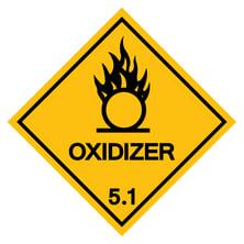 Oxidizer warning sign