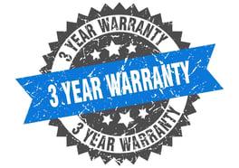 3-year warranty symbol