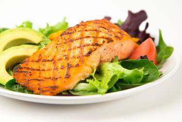 Salmon contains omega-3 fatty acids.