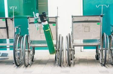 Oxygen tank on wheelchair