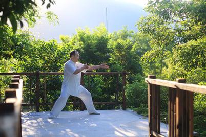 Man practicing Tai Chi