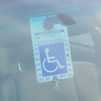 Handicap placard
