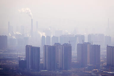 Pollution over a city
