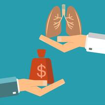 Money exchanged for lung health