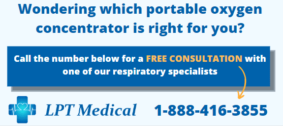 Contact us for a free portable oxygen concentrator consultation!