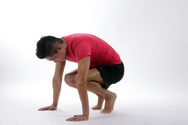 Man preparing to exercise