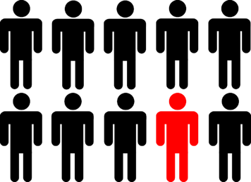 Person in a crowd