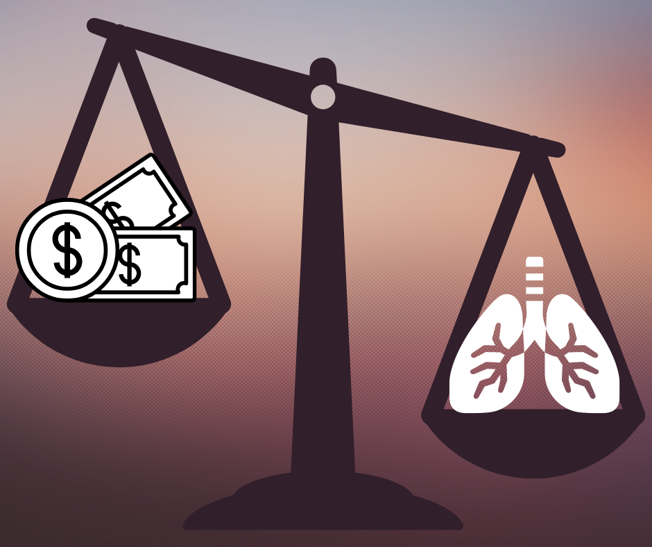 money over lungs
