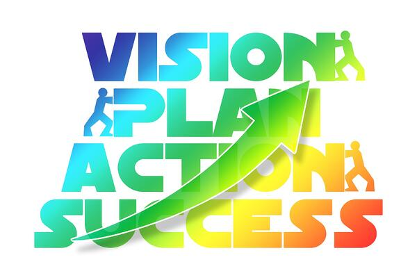 """Vision, plan, action, success"""