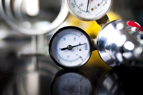 Oxygen tank pressure gauge.