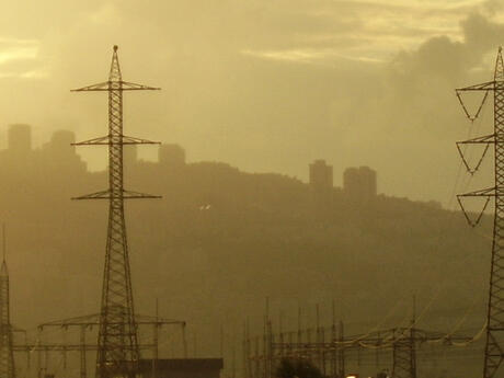 smog and electrical wires