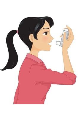 taking inhaler