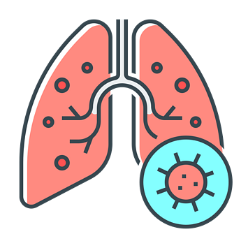 Virus in lungs